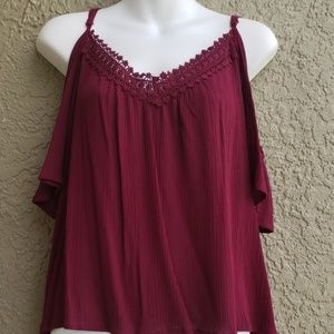 Ambiance cold shoulder top